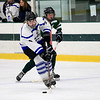 Leominster High School's girls hockey played Oakmont Regional High School on Friday afternoon at the Wallace Civic Center, Fitchburg. LHS's Sophie Schuster takes control of the puck. SENTINEL & ENTERPRISE/JOHN LOVE