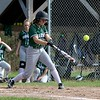Oarkmont Regional High School softball played Groton dunstable Regional High School on Tuesday afternoon in Ashburnham. ORHS player Emma Simkewicz get a piece of the ball during action in the game. SENTINEL & ENTERPRISE/JOHN LOVE