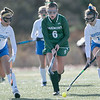 Oakmont Regional High School field hockey played Hopedale High School on Saturday, Nov. 9, 2019 for the Central Mass. Division 2 championship. ORHS's #6 Allyson Foley and HHS's #9 Emma Gosselin with #11 Nora Hodgens. SENTINEL & ENTERPRISE/JOHN LOVE