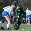 Oakmont Regional High School field hockey played Hopedale High School on Saturday, Nov. 9, 2019 for the Central Mass. Division 2 championship. ORHS's #13 Avery Duteau and HHS's #3Rowe Murphy. SENTINEL & ENTERPRISE/JOHN LOVE