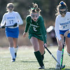 Oakmont Regional High School field hockey played Hopedale High School on Saturday, Nov. 9, 2019 for the Central Mass. Division 2 championship. ORHS's #6 Allyson Foley and HHS's and #11 Nora Hodgens. SENTINEL & ENTERPRISE/JOHN LOVE