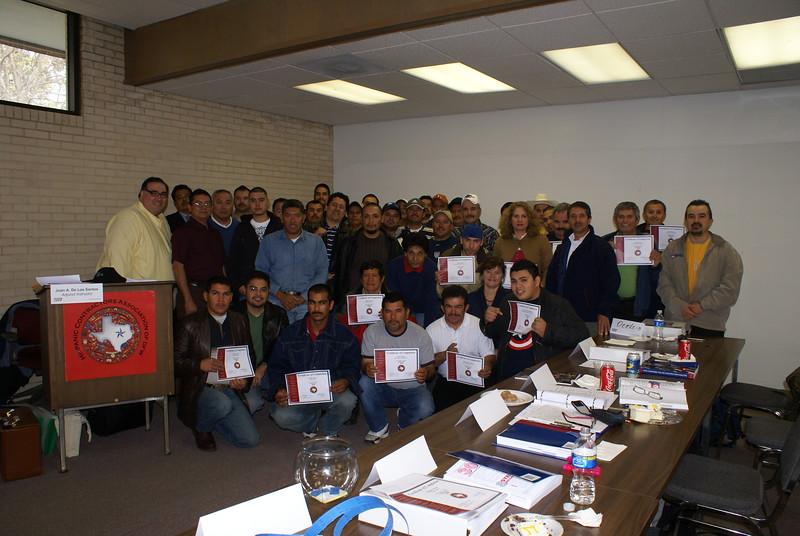 Congratulations:  OSHA 510 Graduating Class