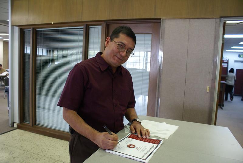 Thank You:  OSHA Authorized Instructor Juan A. De Los Santos, TEEX