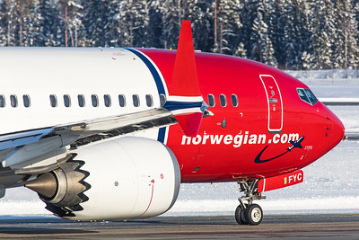 Norwegian Air International Boeing 737-8 MAX EI-FYC 2-3-19 3