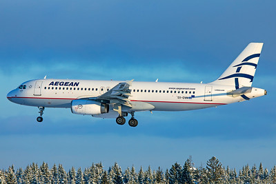 Aegean Airlines Airbus A320-232 SX-DVN 2-3-19