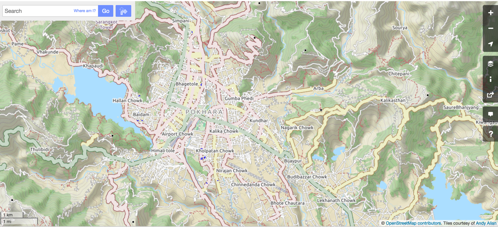 Pokhara on cyclemap by Andy Allen
