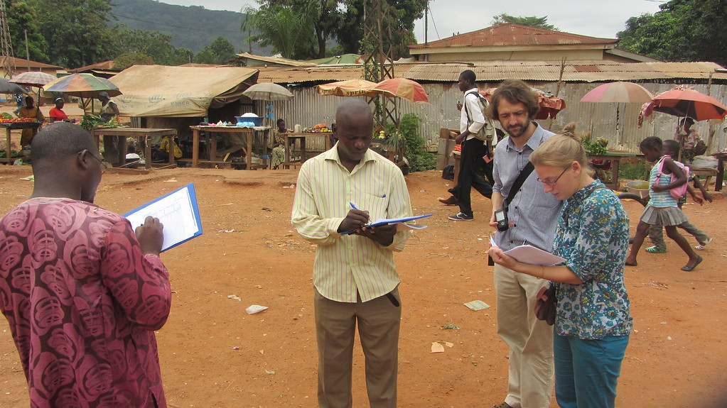 Dataverzameling in Bangui