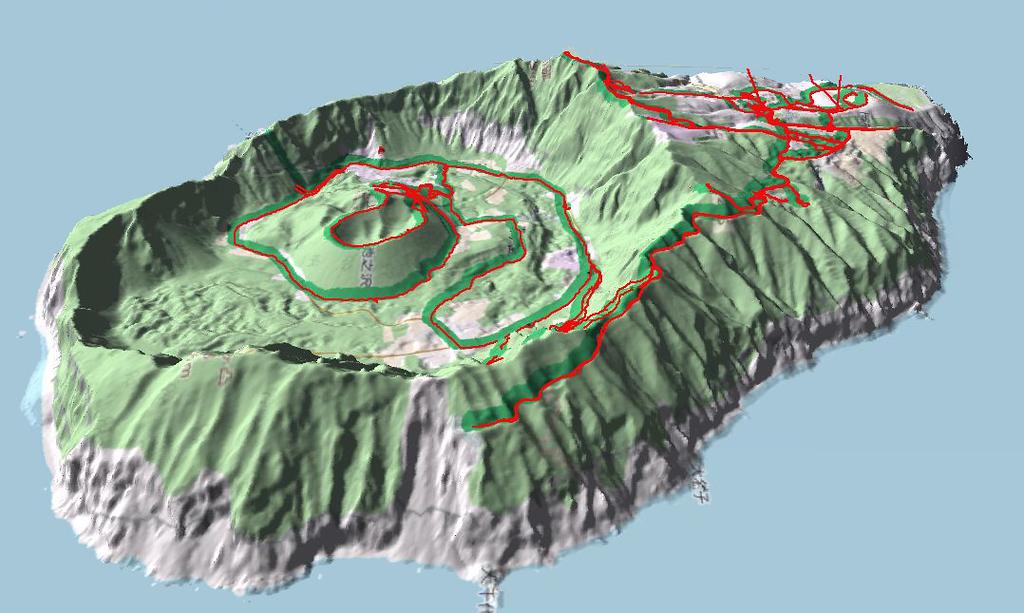 3D Aogashima island