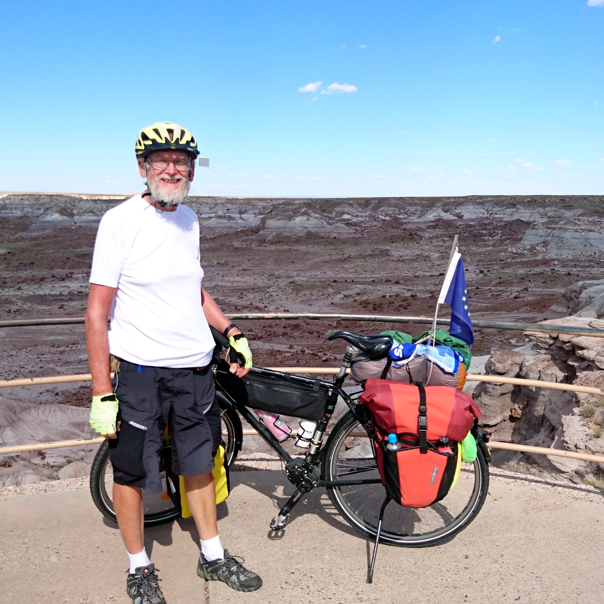 Volker at Petrified Forest National Park AZ 2016