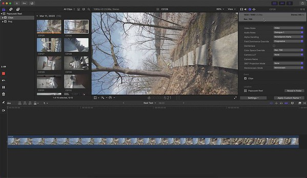 Editing Reel In FCPX