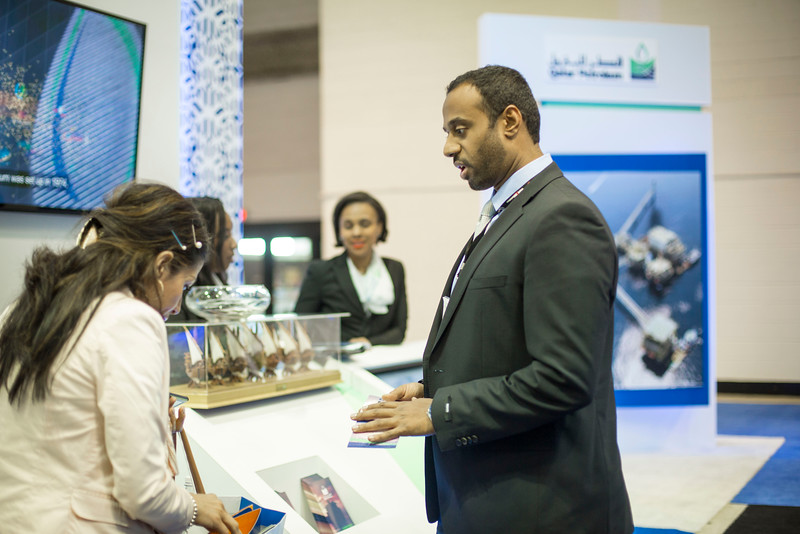 Attendees and Speakers Qatar Booth Photography