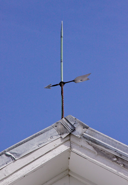 antique weathervane directional and lightening rod on barn, Livermore Falls, Maine, Oxford County