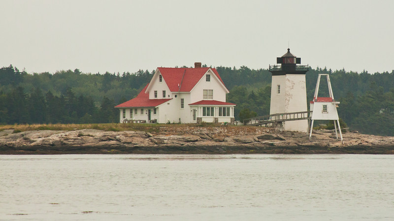 Lighthouse with keeper's house, Henrick's Head, Westport, Maine,