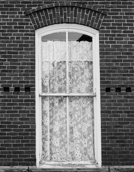 Lace In Window, Eastport, Maine