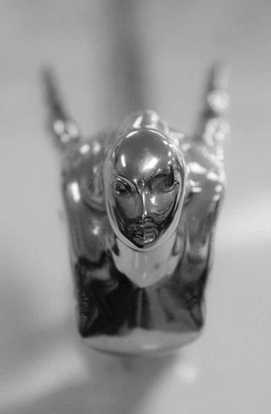 """Cadillac 1941 Flying Lady hood ornament. Photo taken at <a href=""""http://www.vintageautomuseum.org/"""">http://www.vintageautomuseum.org/</a>"""