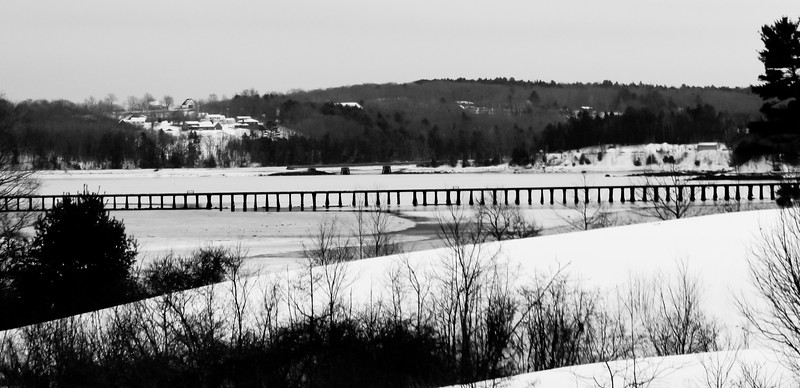 Wiscasset Rail Road Bridge In Winter, Maine