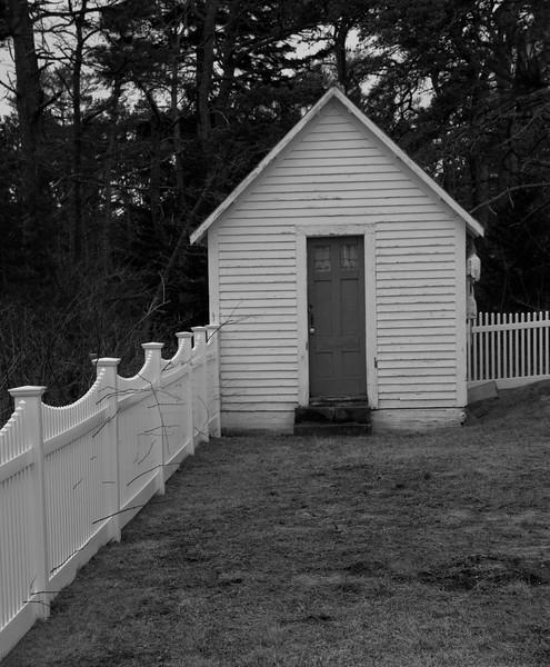 elaborate outbuilding, Popham, Phippsburg Maine