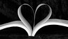 Valentine's Day heart from the pages of a book I love
