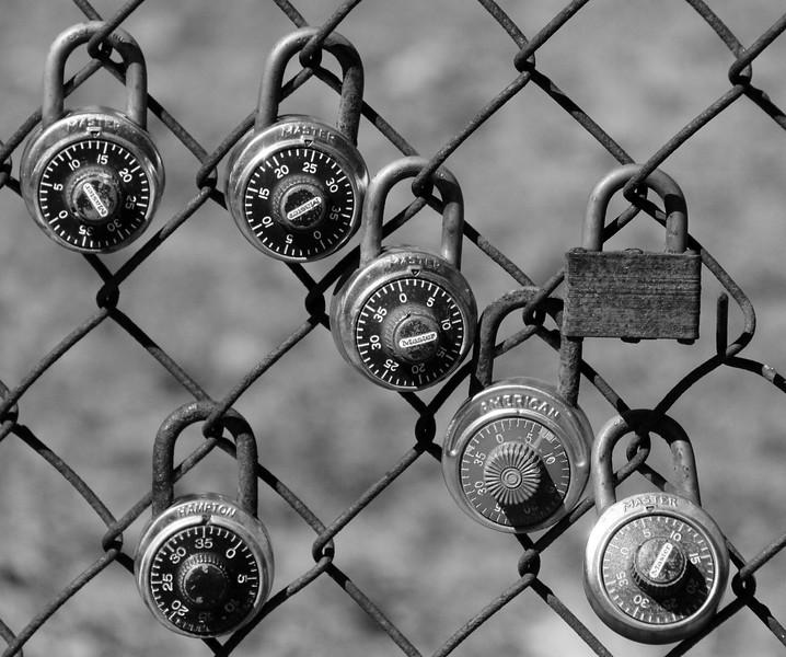 Brunswick High School locker padlocks, Brunswick Maine