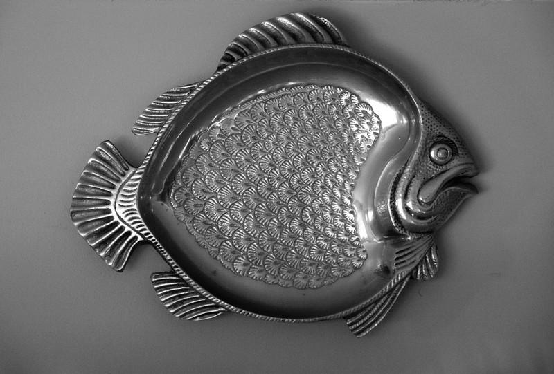 pewter fish dish