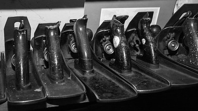 Wood planes in black and white, Woodworking tools, Liberty Tools, Liberty Maine