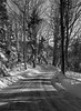 Cox's Head Road in winter, a classic, snowy scene in Maine, Phippsburg, Maine Jaunuary