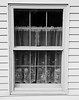Lighthouse window, lighthouse keeper's window, black and white, Brown's Point, Vinalhaven Island, Maine