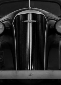 1937 Chevrolet grill, Friendship, Maine, antique car