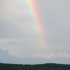 rainbow over Small Point, Phippsburg Maine, Marin Island on the left