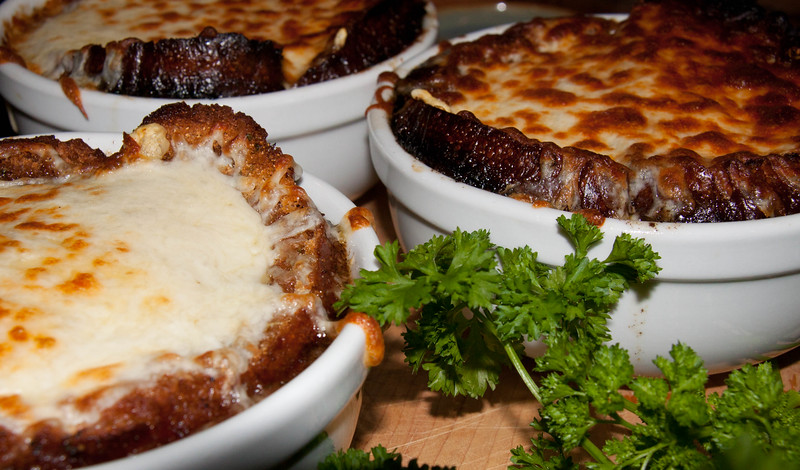 classic, French Onion soup with cheese