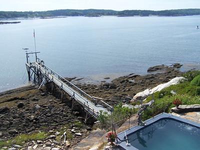 pier is 118 feet long. saltwater swimming pool
