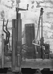 antique wood planer, sawmill, Phippsburg, Maine