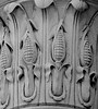 Benjamin Henry Latrobe architect, corncobs on tops of columns on bank in Brunswick, Maine