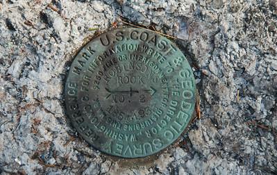 Geodetic Survey marker, Robinson's Rock, Phippsburg Maine