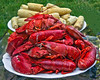Lobster bake with corn on the cob, Fourth Of July, Phippsburg Maine