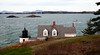 Brown's Head Lighthouse, Vinalhaven island Maine, Camden Hills in background