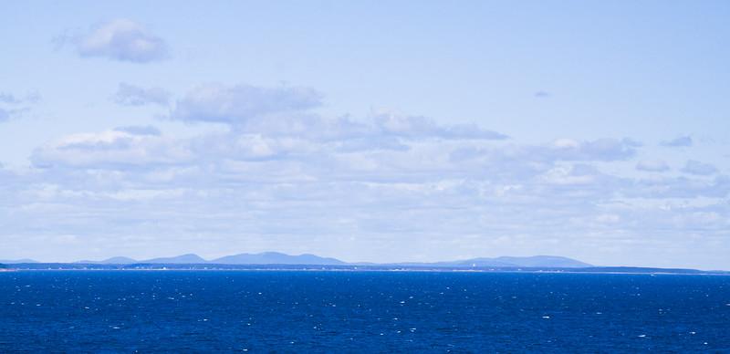 Mount Desert Island from Monhegan Island, Maine