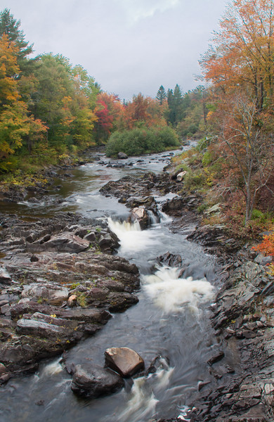 Kingsbury Stream in Abbot, Maine, Piscataquis County looking north up stream