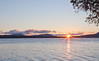 sunrise over Longfellow Mountains, Moosehead Lake, from Rockwood, Maine