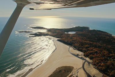 Small Point, Maine Phippsburg areail, Bald Head, Seawall Beach