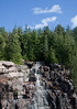 waterfall created by rainwater on road to Cadillac Mountain, Acadia National Park, Mount Desert Island, Maine