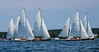 Small Point One Design sailboats, regatta August 4, 2012, Phippsburg Maine
