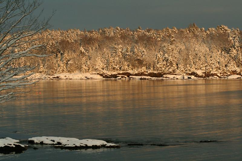 Totman Cove In Winter