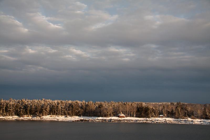 Totman Cove, February 5, winter scenic
