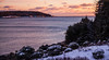 Sunset on Cape Small Harbor, Casco Bay, Hermit Island on the left, Phippsburg Maine. We had just concluded winter storm Hercules.