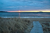 Popham Beach State Park in winter at sunrise, Phippsburg, Maine