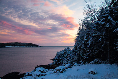 Totman Cove, February 5, winter scenic