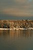 After The Nor'easter, fresh snow fall on Bailey Point, Phippsburg, Maine