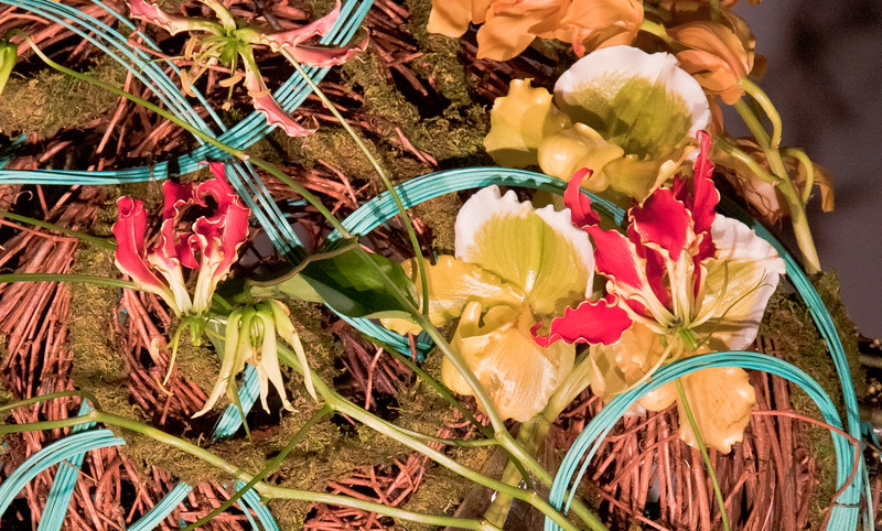 Turquois Twine And Orchids