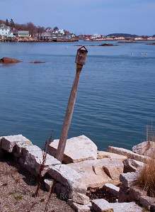 Birdhouse on the coast of Maine, Stonington scenic